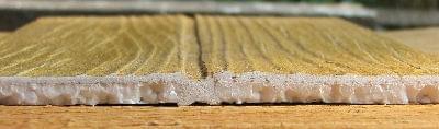 Elastyczna powłoka imitująca drewno - sposób łączenia z zastosowaniem boni 5mm