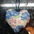 serce w roze #hafty