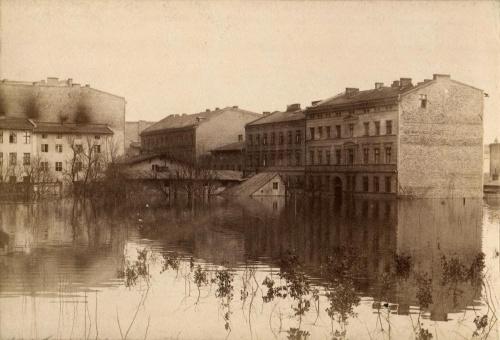 Powódz Poznań 1888 rok Powódz 1888 - Rybaki