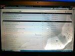 Matryca ekranu laptopa, plamy po wewnętrznej stronie