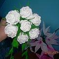 #KwiatyZBibuły #bibuła #krepina #dekoracje #hobby #KompozycjeKwiatowe #MojePrace #pomysły #Agnieszka #pasja #RobótkiRęczne #rękodzieło #moje #róże #RózeZKrepiny
