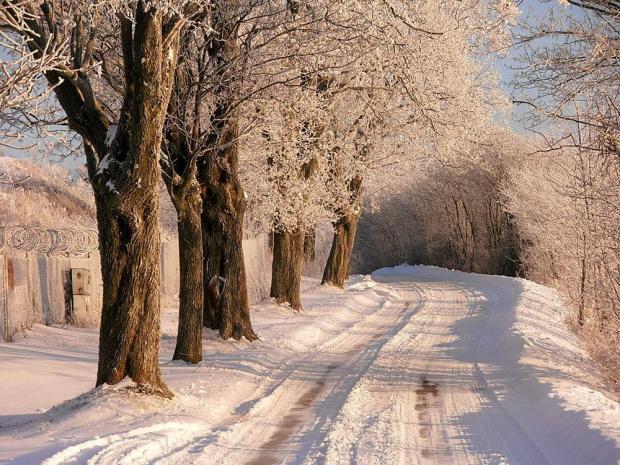 Droga na koniec świata.. #śnieg #mróz #lóg #zima