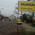 Świeżo postawiony znak informujący o ruszającej przebudowie. #budowa #toruń #TrasaŚrednicowa