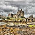 Eilean Donan Castle w technice HDR - Szkocja #zamki #budowle #Szkocja #Podroze