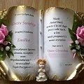 chrzest święty #bibuła #KsięgiOkolicznościowe #KwiatyZKrepiny #pamiątki #rękodzięło #zaproszenia