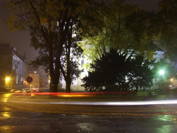 moje miasto nocą