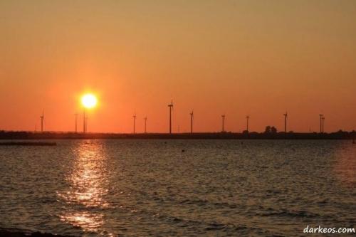 #bałtyk #ZachódSłońca #lato #sztorm #odbicie #motorówka #statek #łódź