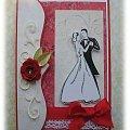 Kartka ślubna #Kartka #życzenia #czerwień #miłość #ślub