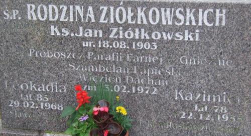 ks. Jan Ziółkowski Gniezno cmentarz Witkowska