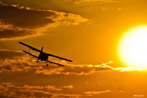 A taki samolocik #samolot #zachód #niebo #chmury #nikon #passiv #airking