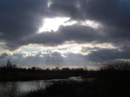 dzień, w którym pękło niebo #Kraków #niebo #Wisła