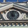 Zegar z herbem w budynku kowarskiego ratusza #ratusz #kowary