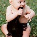 #kot #kiciuś #ogon #niemowlak #dziecko #zabawa