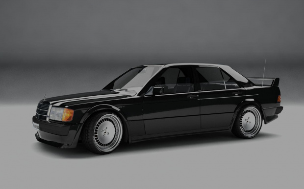 Mercedes-Benz W201 Evolution 3D model render #Mercedes #Benz #W201 #Evo #Evolution #render #model #car #classic #sport