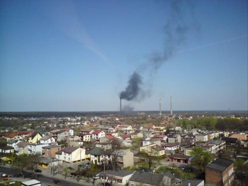 Wistom znów pracuje ;-) Pożar komina 21 IV 2011 #Wistom #TomaszówMazowiecki #pożar